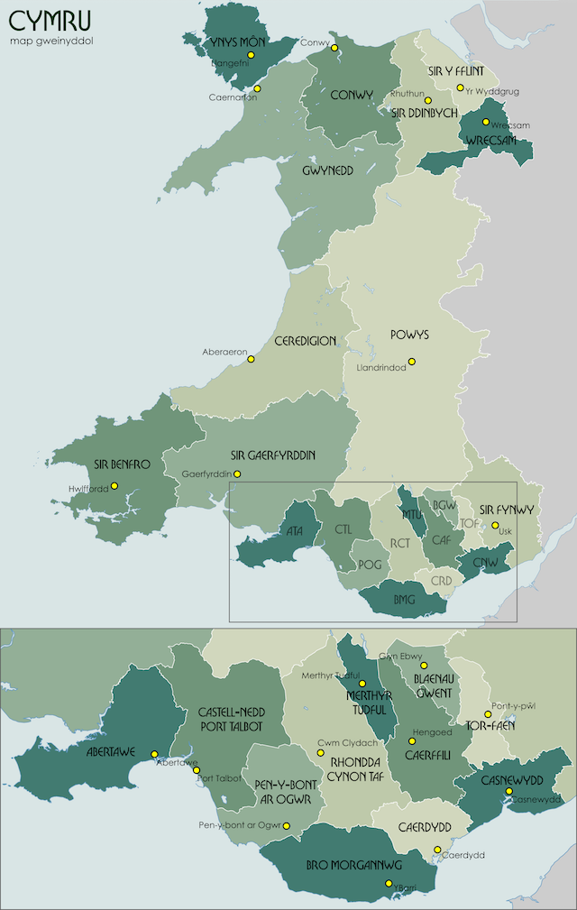 Several Short Sentences About The Welsh Language How To Save The - Welsh language map
