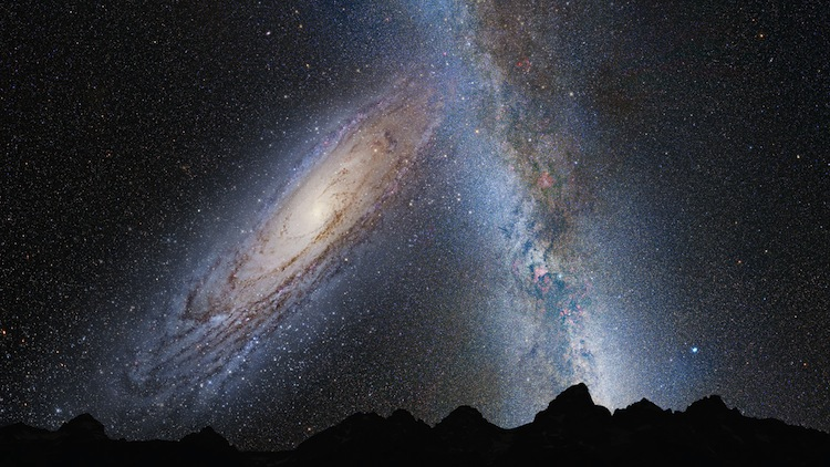 milky way andromeda collision